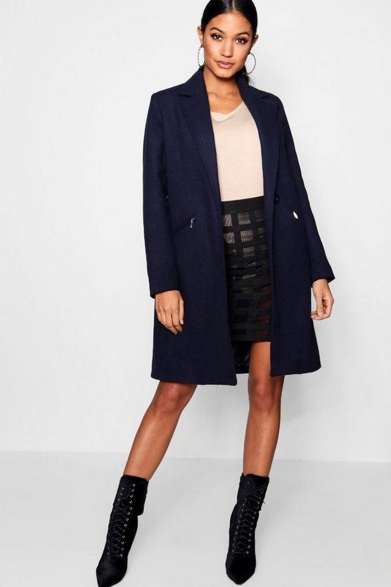 Zip Pocket Tailored Coat
