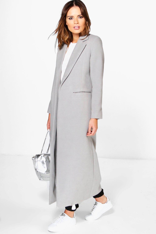 Boohoo Womens Keira Maxi Length Tailored Coat   eBay