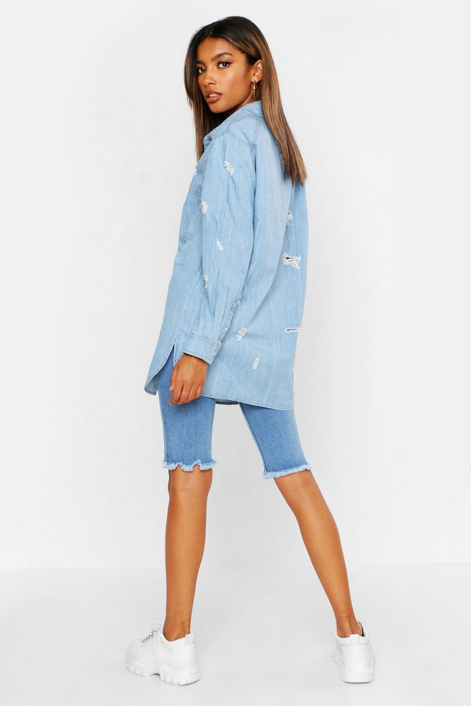 Camisa desgastada muy Azul denim extragrande Cqx07UqZw