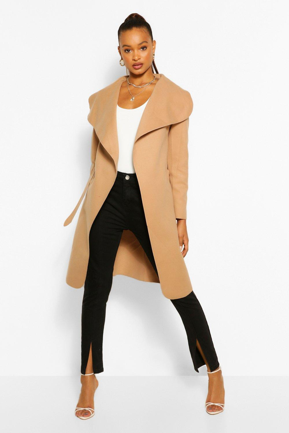 Ladies Camel Wool Coat Sm Coats