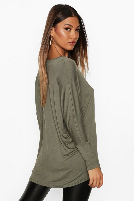 Basic Long Sleeve Oversized T-Shirt
