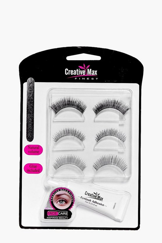 Womens Black Natural Look Eyelashes