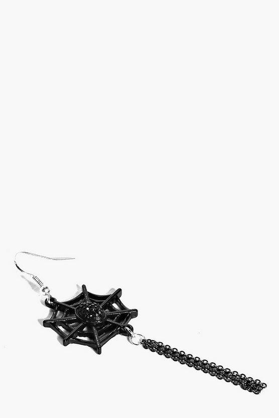 Halloween Cobweb Tassel Earrings