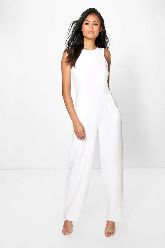 Round Neck Textured Jumpsuit