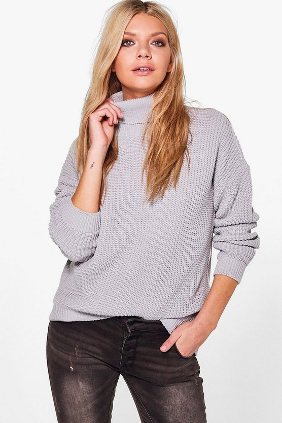 Fisherman Roll Neck Jumper