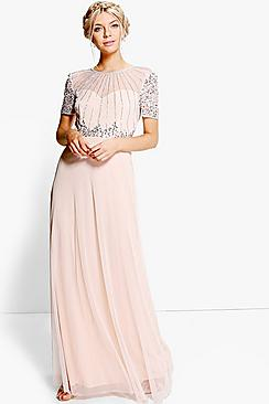 1930s Style Fashion Dresses Boutique Emily Beaded Maxi Dress $96.00 AT vintagedancer.com