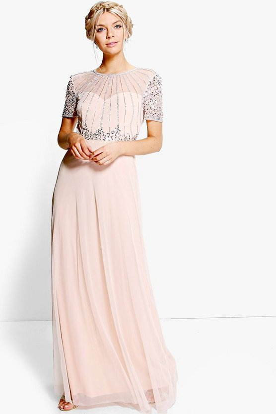 Boutique Beaded Maxi Dress
