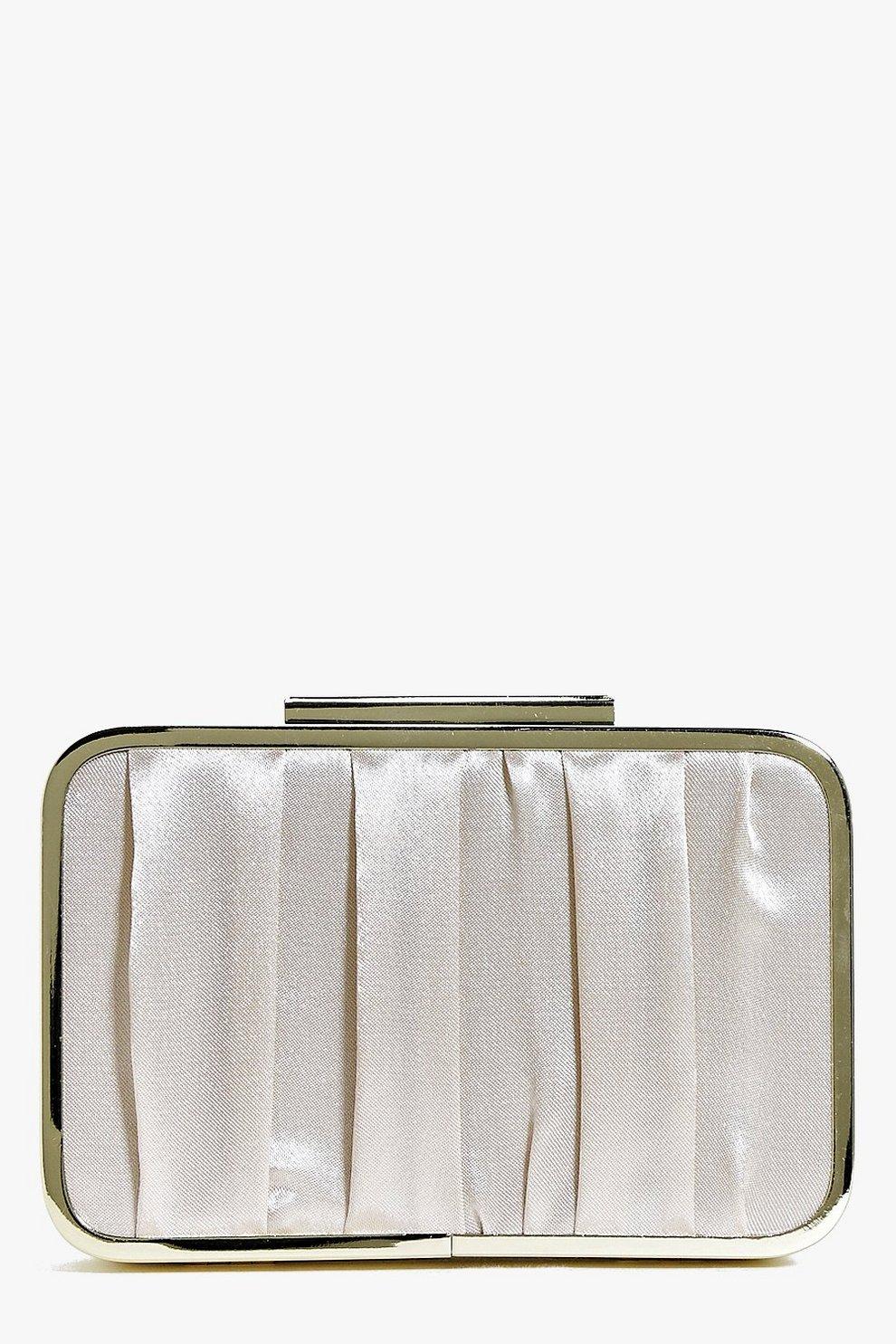 Lily Metal Frame Box Clutch Bag | Boohoo