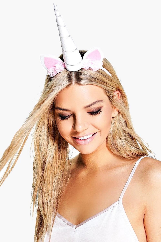 white unicorn headband boohoo