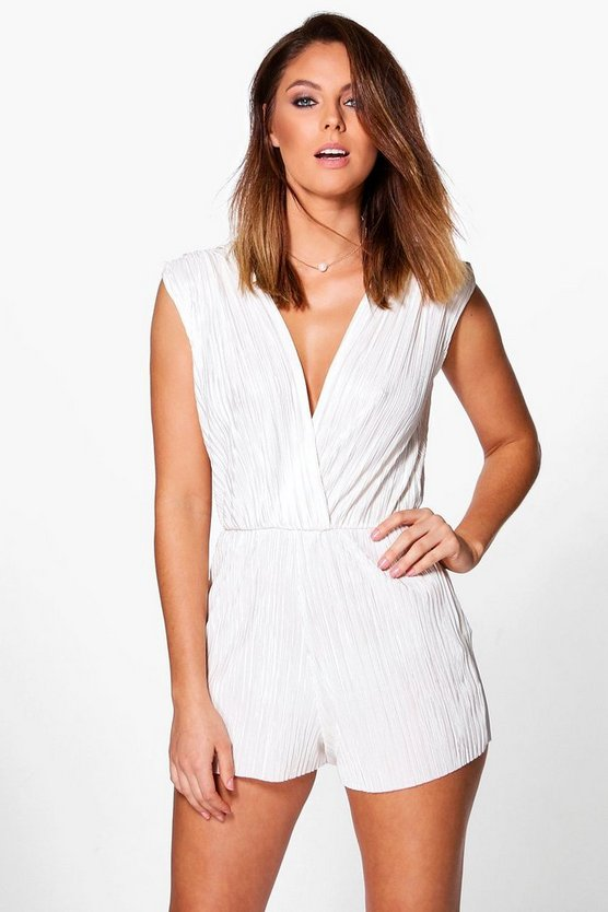 Zoe Pleated Shoulder Playsuit