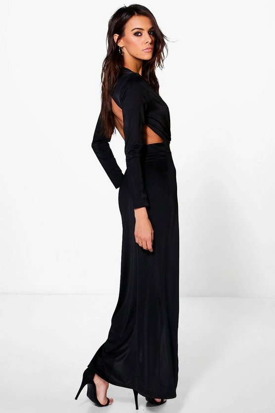 Uhura Slinky Wrap Open Back Maxi Dress