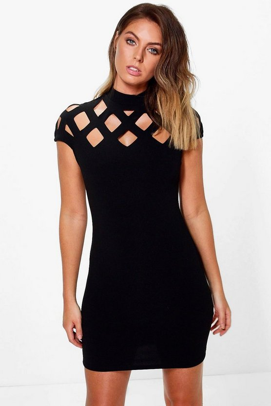 Cut Out Neck Bodycon Dress