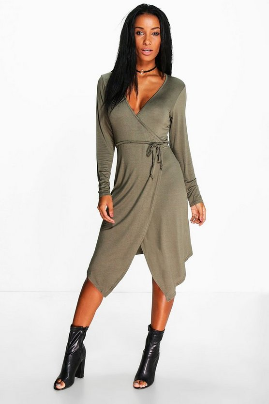 Odette Tie Waist Wrap Dress