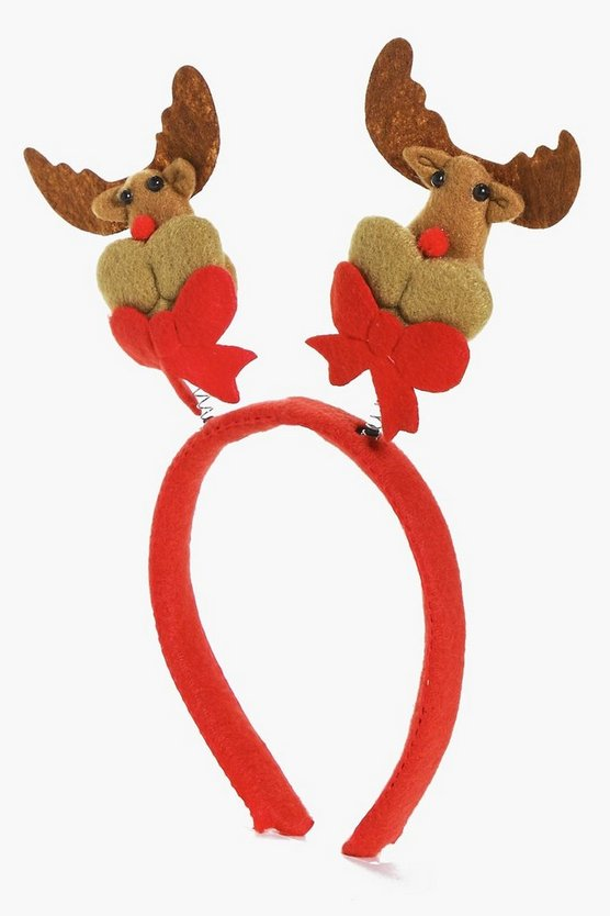 Isabelle Christmas Novelty Reindeer Head Band