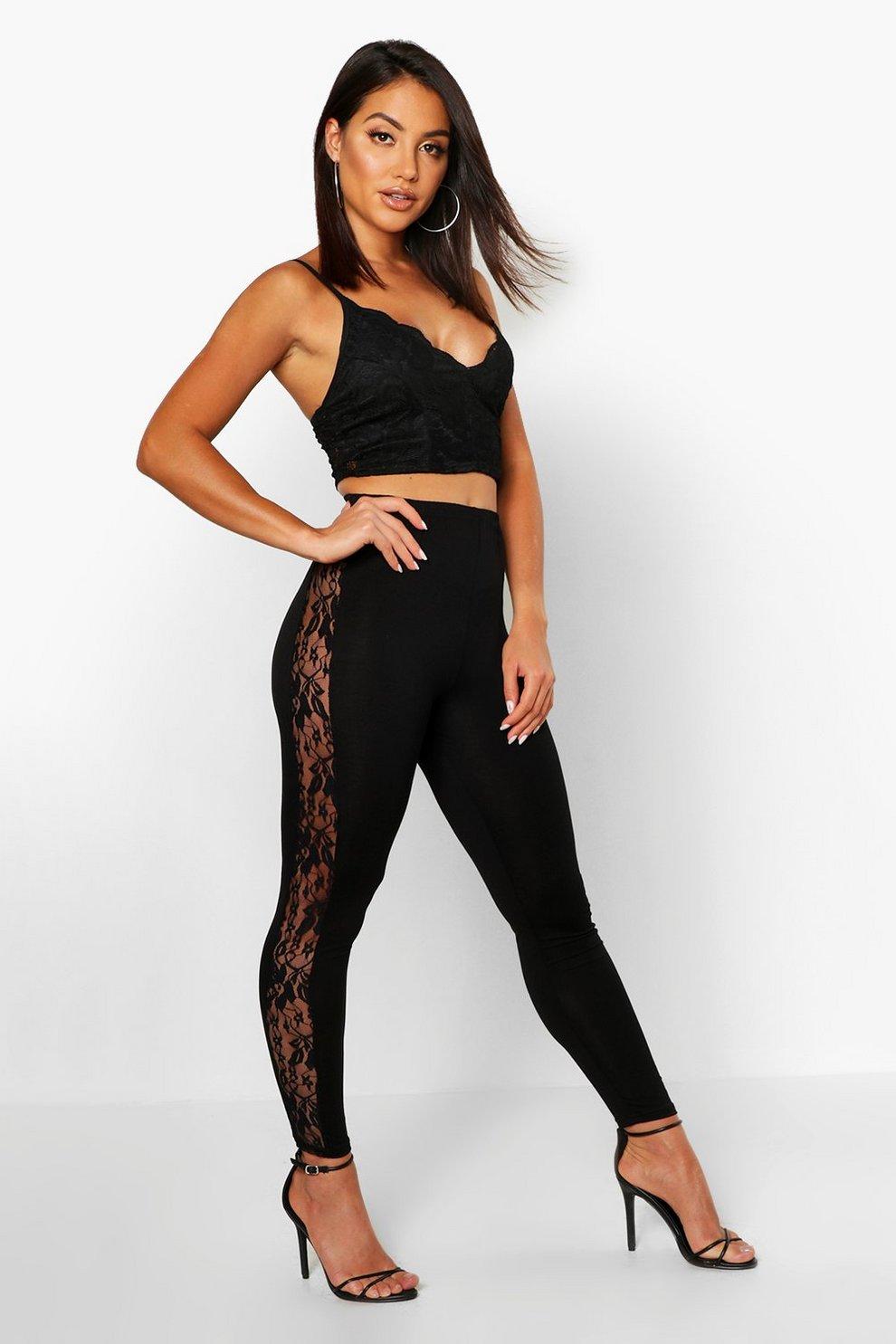 00410a2f4bd09 Lace Side Jersey Leggings
