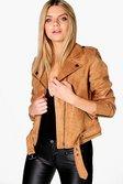 d3a9f8c5f5c66 ... Niamh Boutique Faux Suede Biker Jacket alternative image