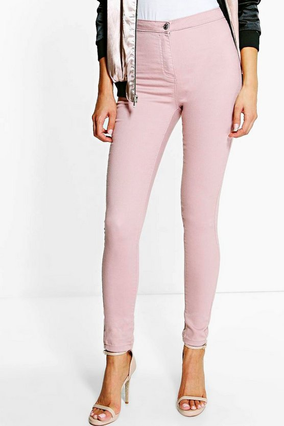 Womens Nude Lara High Rise Tube Jeans