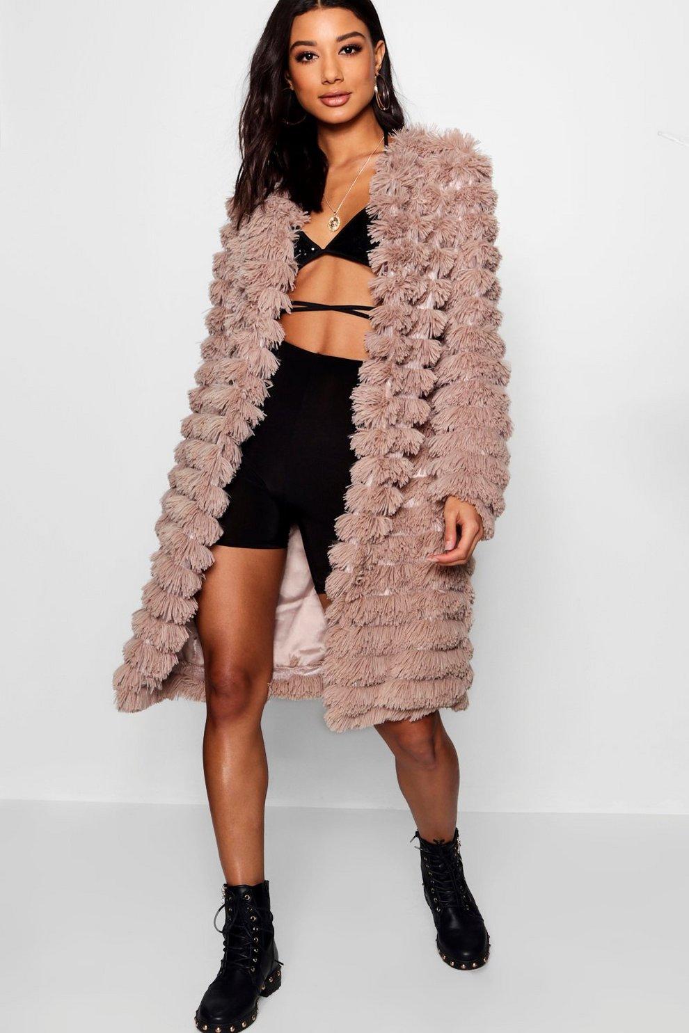 76bc24bb935 Shaggy Faux Fur Coat