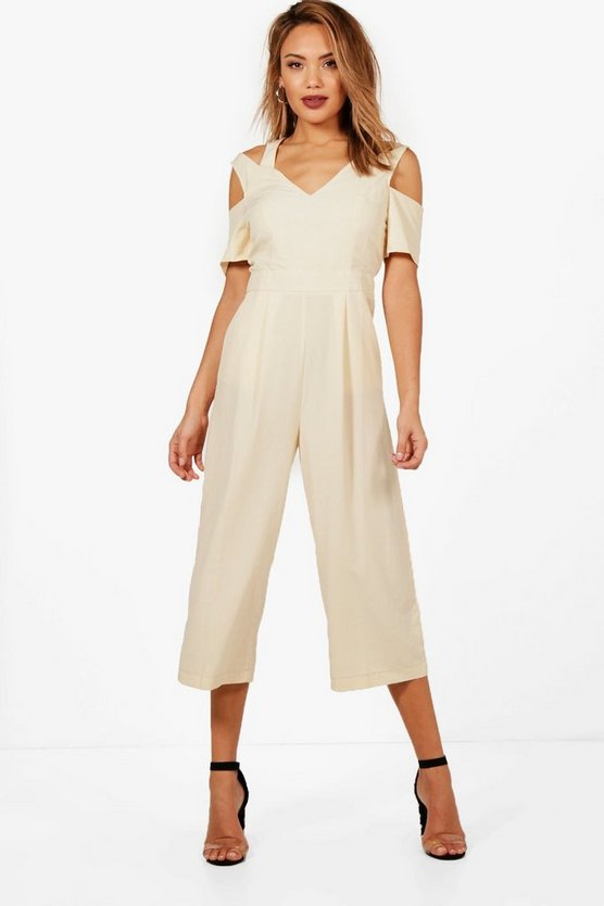 Off The Shoulder Culotte Jumpsuit