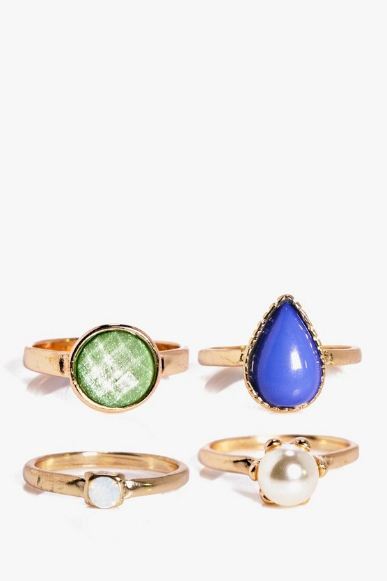 Phoebe Pearl and Stone Ring Pack