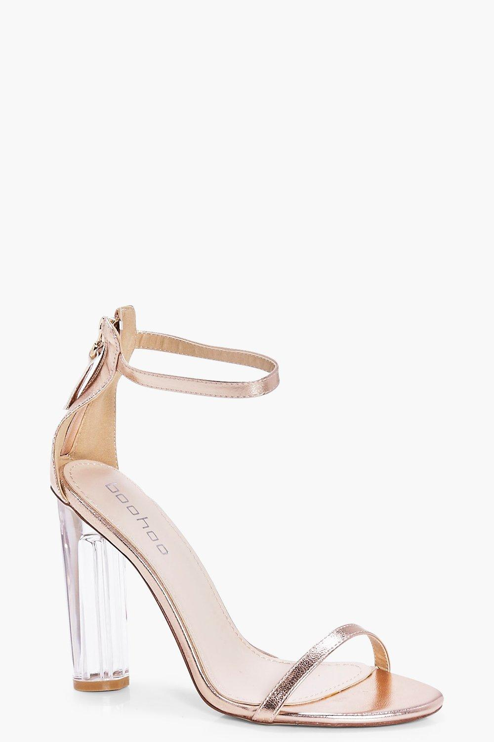 5463d98441e Esther Clear Heel Two Part. Hover to zoom
