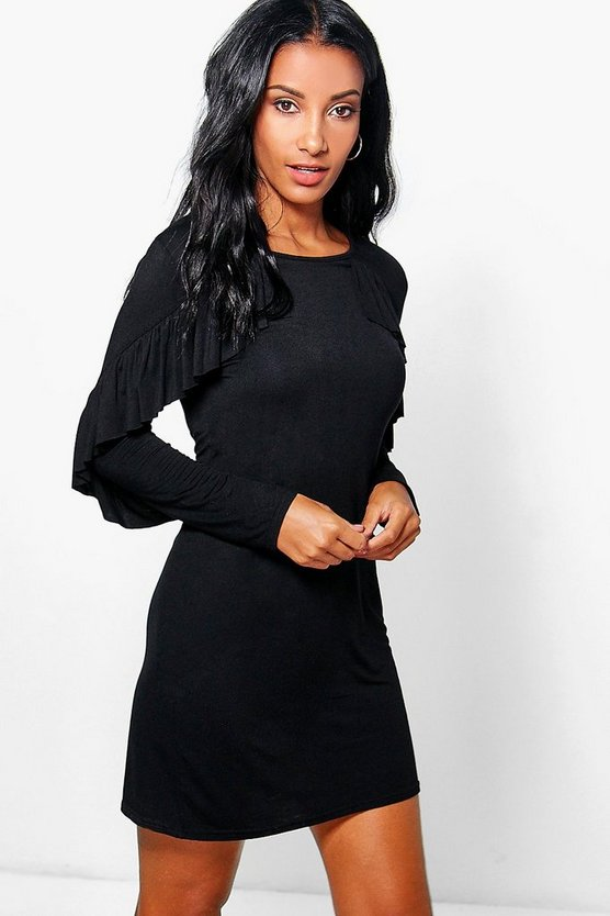Veronique Ruffle T-Shirt Dress
