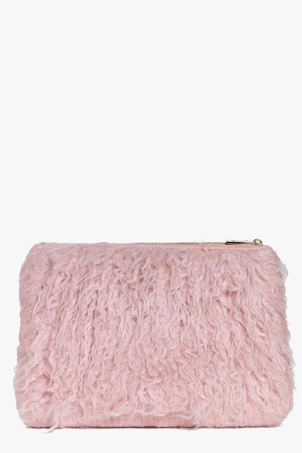 Skye Mongolian Faux Fur Clutch Bag   Boohoo e22ca44229