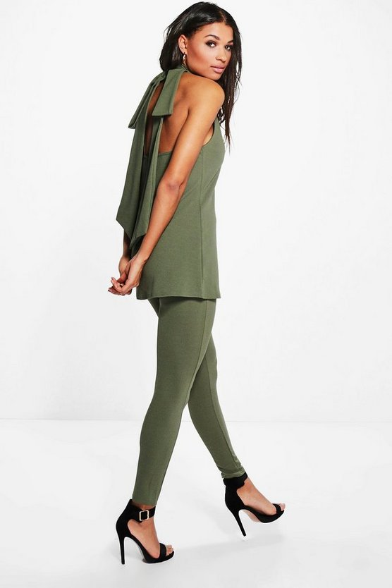 Pria Bow Back Longline Top And Trouser Co-Ord