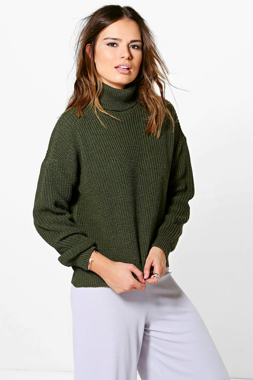 3153378e6 Isabel Oversized Fisherman Roll Neck Jumper