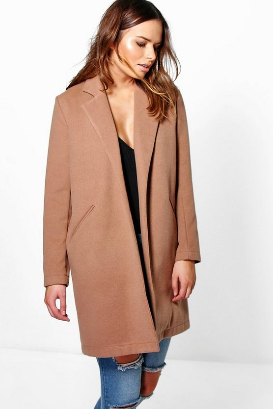 Camel Wool Look Coat