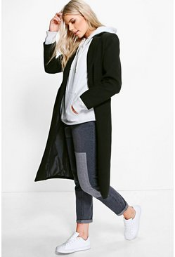 Womens Black Tailored Coat