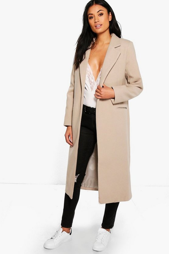 Womens Stone Tailored Coat