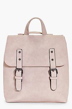 Buckle Detail Structured Backpack