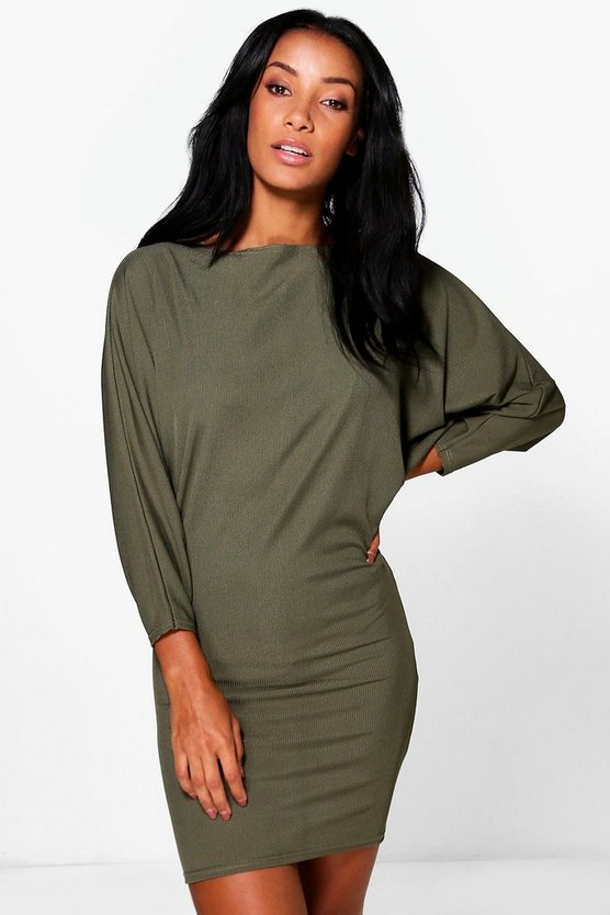 Jenny Batwing Rib Shift Dress