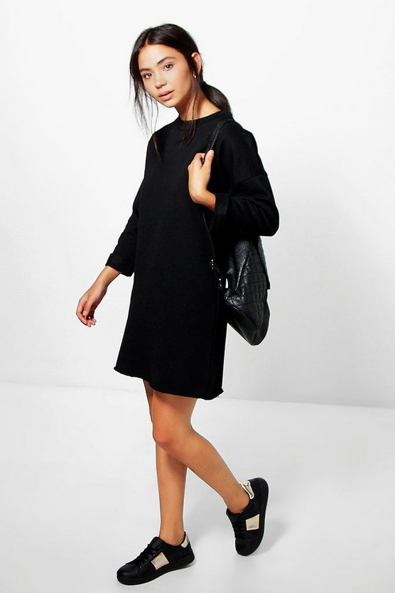 Fleece Back Sweat Dress