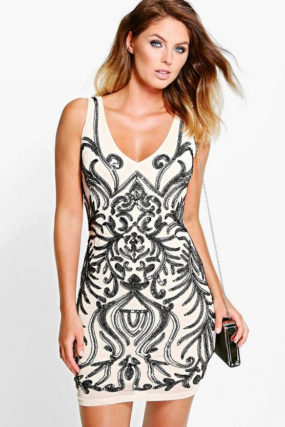 Boutique Tammi Embellished Bodycon Dress