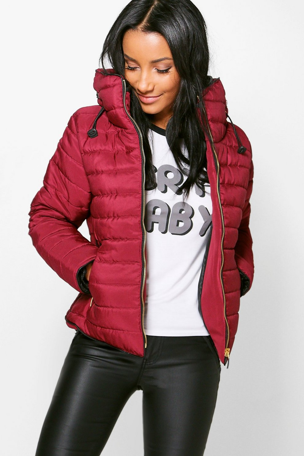 576b34f08aab Lily Quilted Padded Jacket | Boohoo