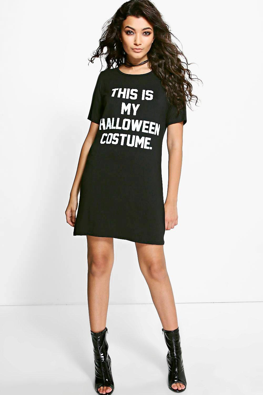 d6bd50e98 Womens Black Emily Halloween Costume Tshirt Dress. Hover to zoom