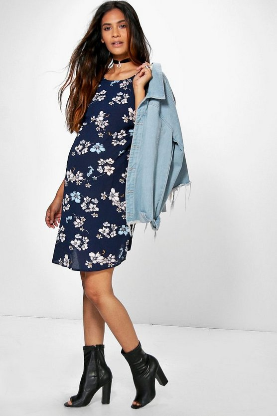 Maternity Soph Floral Print Short Sleeve Shift Dress