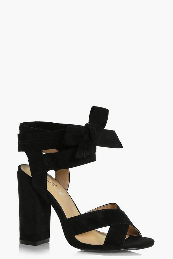 Abbie Wide Fit Wrap Strap Heels