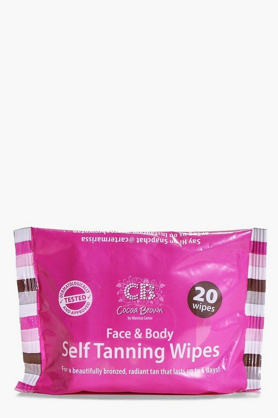Cocoa Brown Face And Body Tanning Wipes