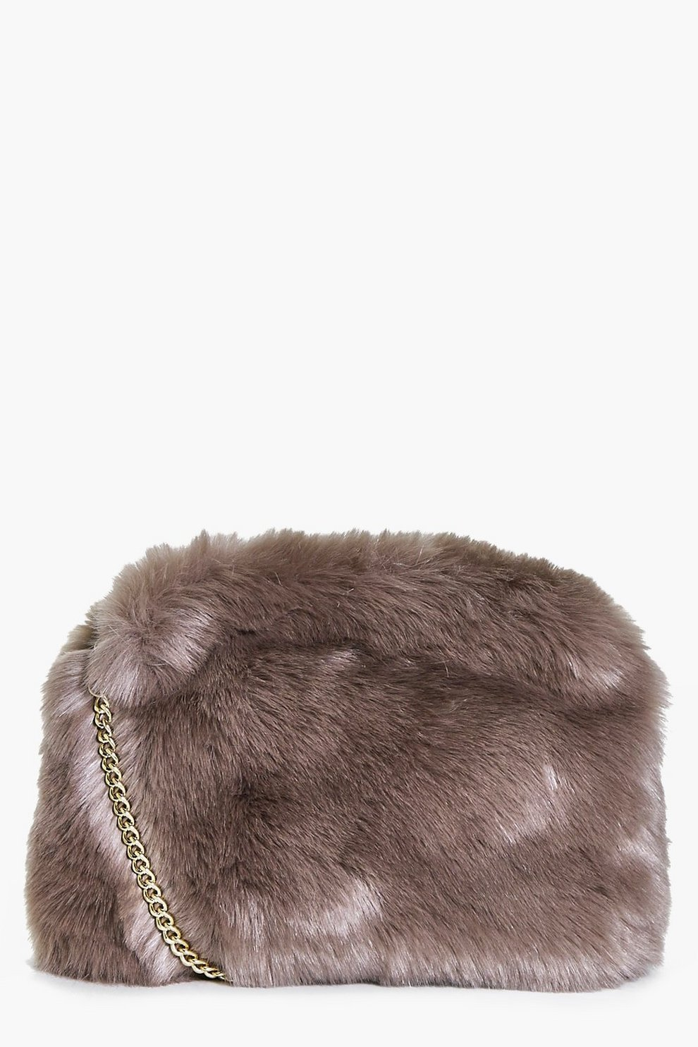 2e19d0fd7 Womens Mink Kara Fluffy Faux Fur Cross Body Bag