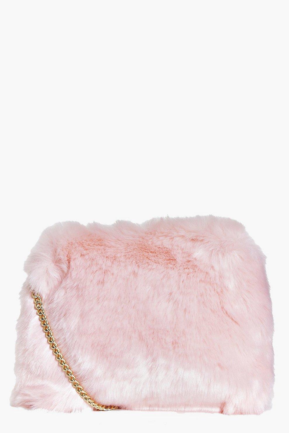 Kara Fluffy Faux Fur Cross Body Bag  347275cfcc482