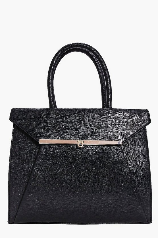 Erin Metal Trim Fold Front Day Bag
