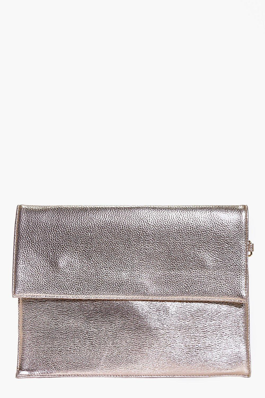 2667fd5def ... Oversized Metallic Clutch Bag. Hover to zoom