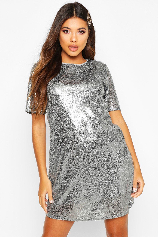 boutique abito paillettes a lacey T shirt con vvZpRrW