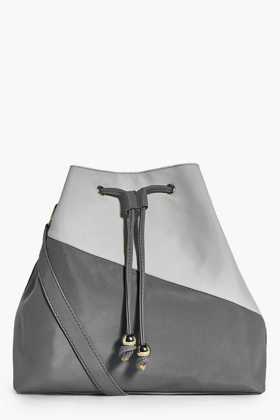 Natalia Asymmetric Colour Block Duffle Bag