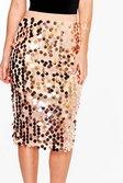 cdb5a1d4 ... Womens Black Boutique Kati Larger Sequin Midi Skirt alternative image