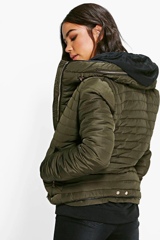 Boohoo Womens Emma Crop Bubble Coat 14 Black DZZ7094910522 Black ...