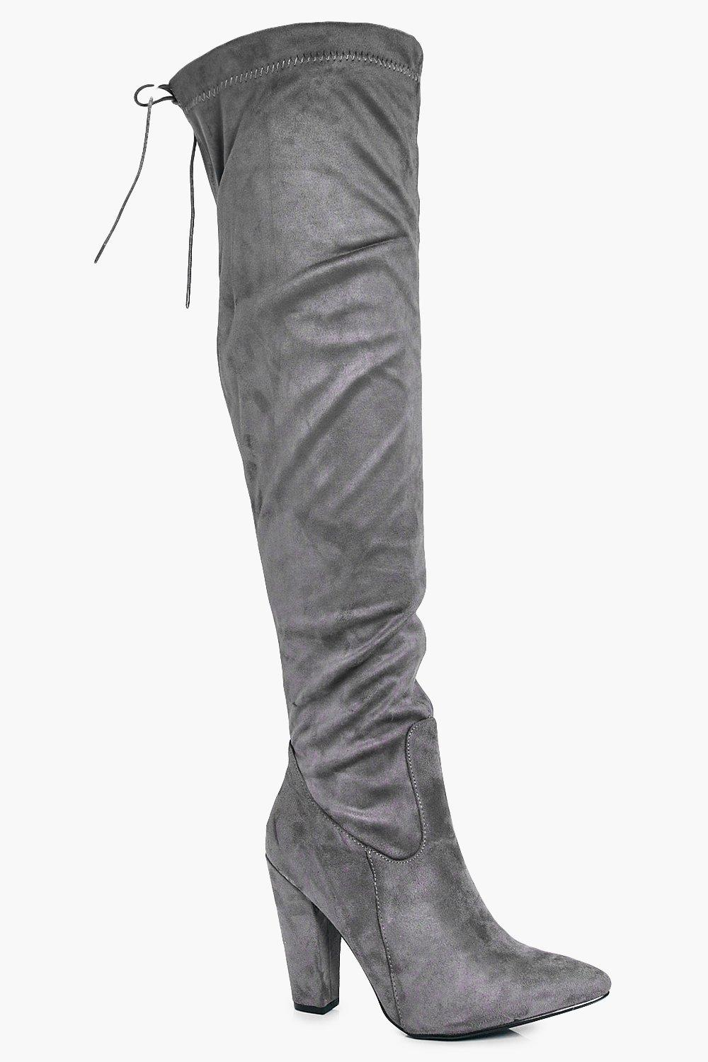 d8879b1b8fc Tia Wide Fit Over The Knee Block Heel Boot. Hover to zoom